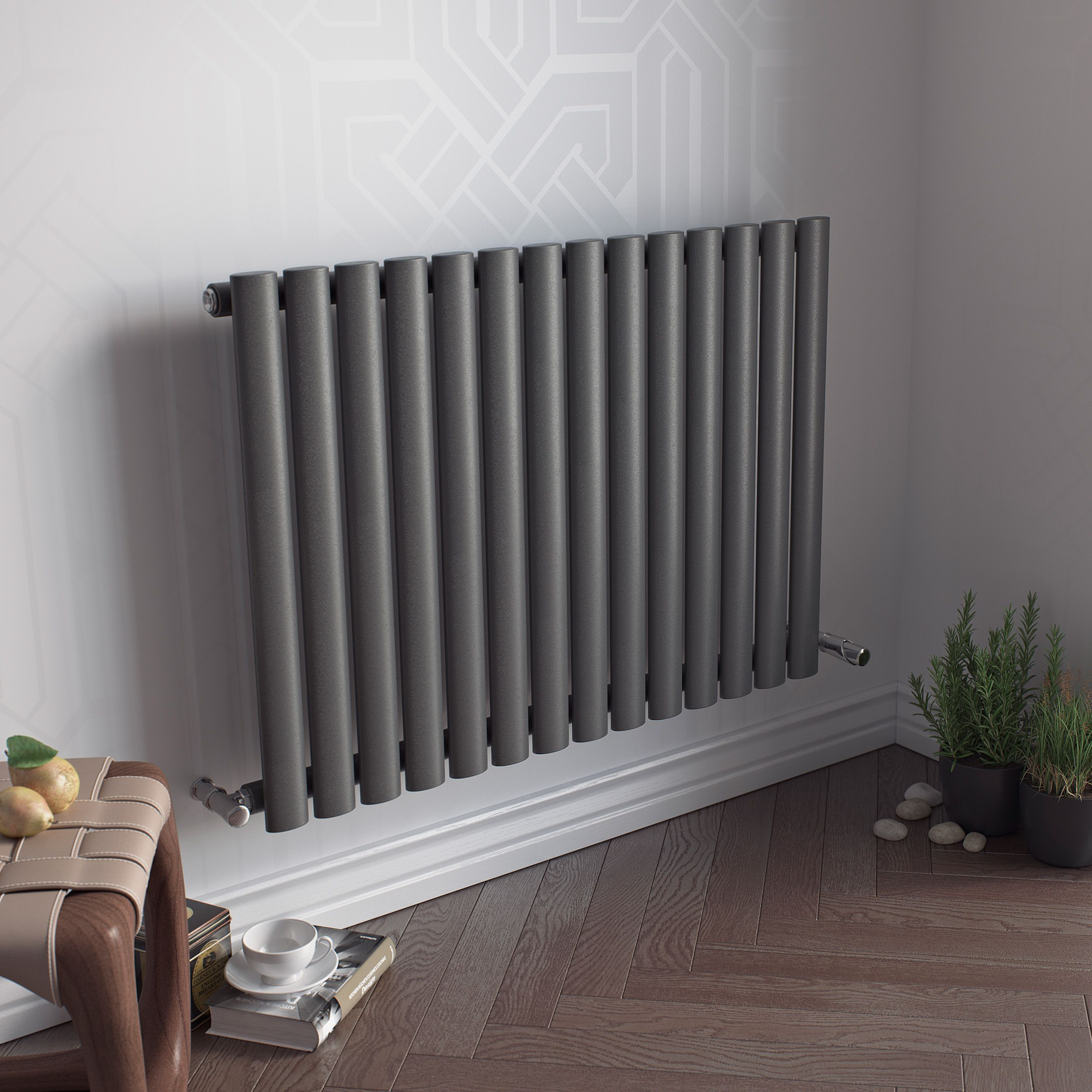 Ximax Fortuna Horizontal Radiator Anthracite (H)600 mm (W)826