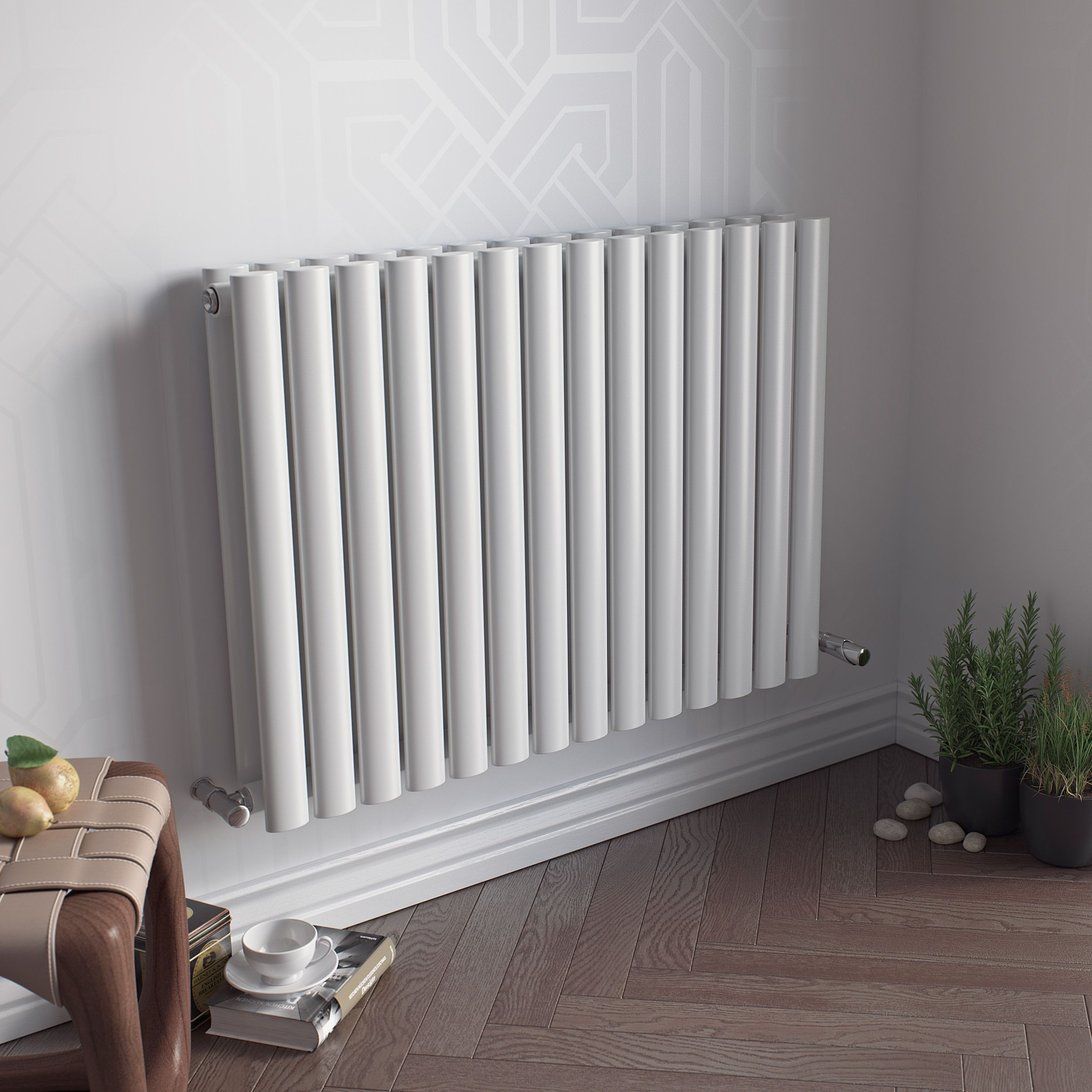 Ximax Fortuna Duplex Horizontal Radiator White (H)600 mm