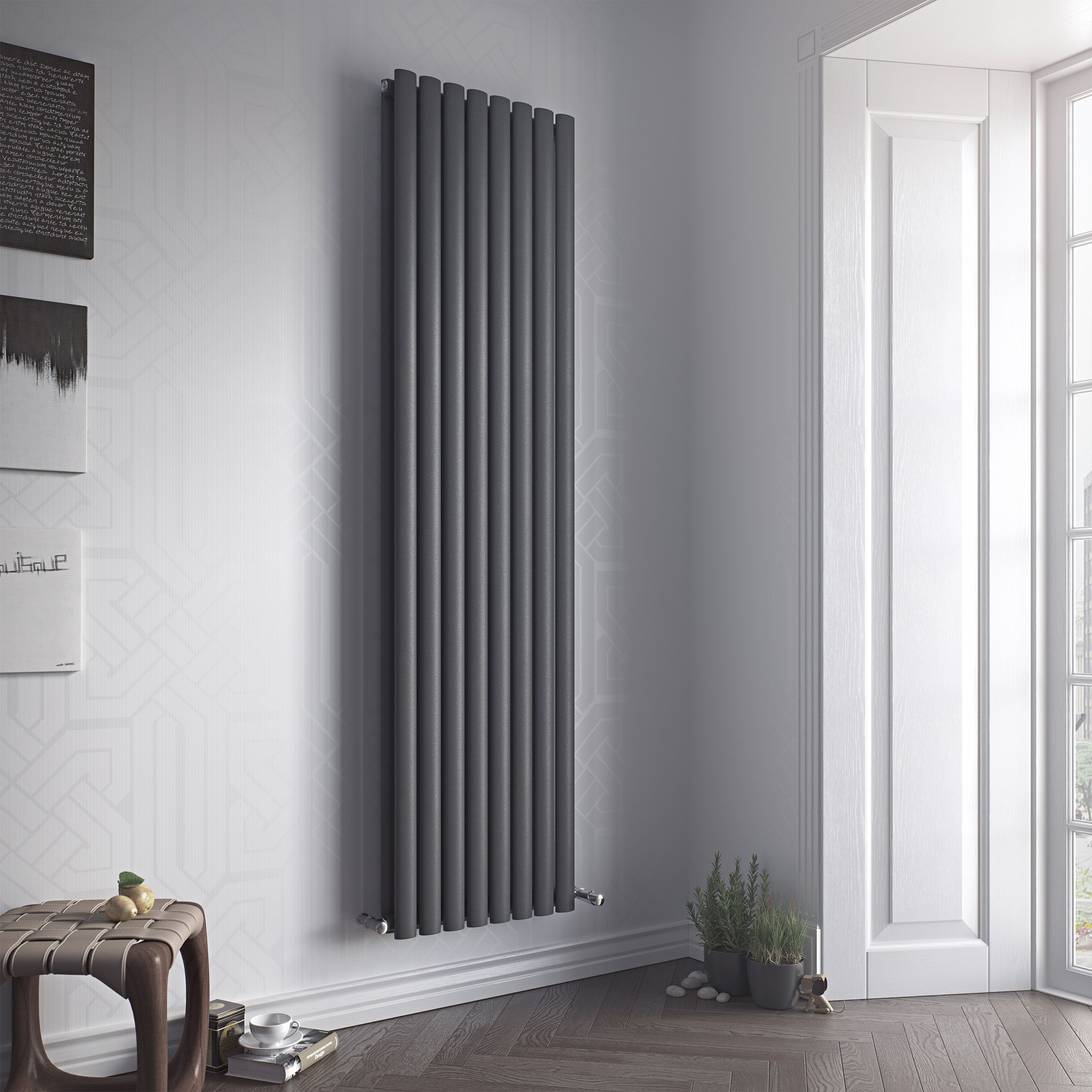 Ximax Fortuna Duplex Vertical Radiator Anthracite (H)1800 mm