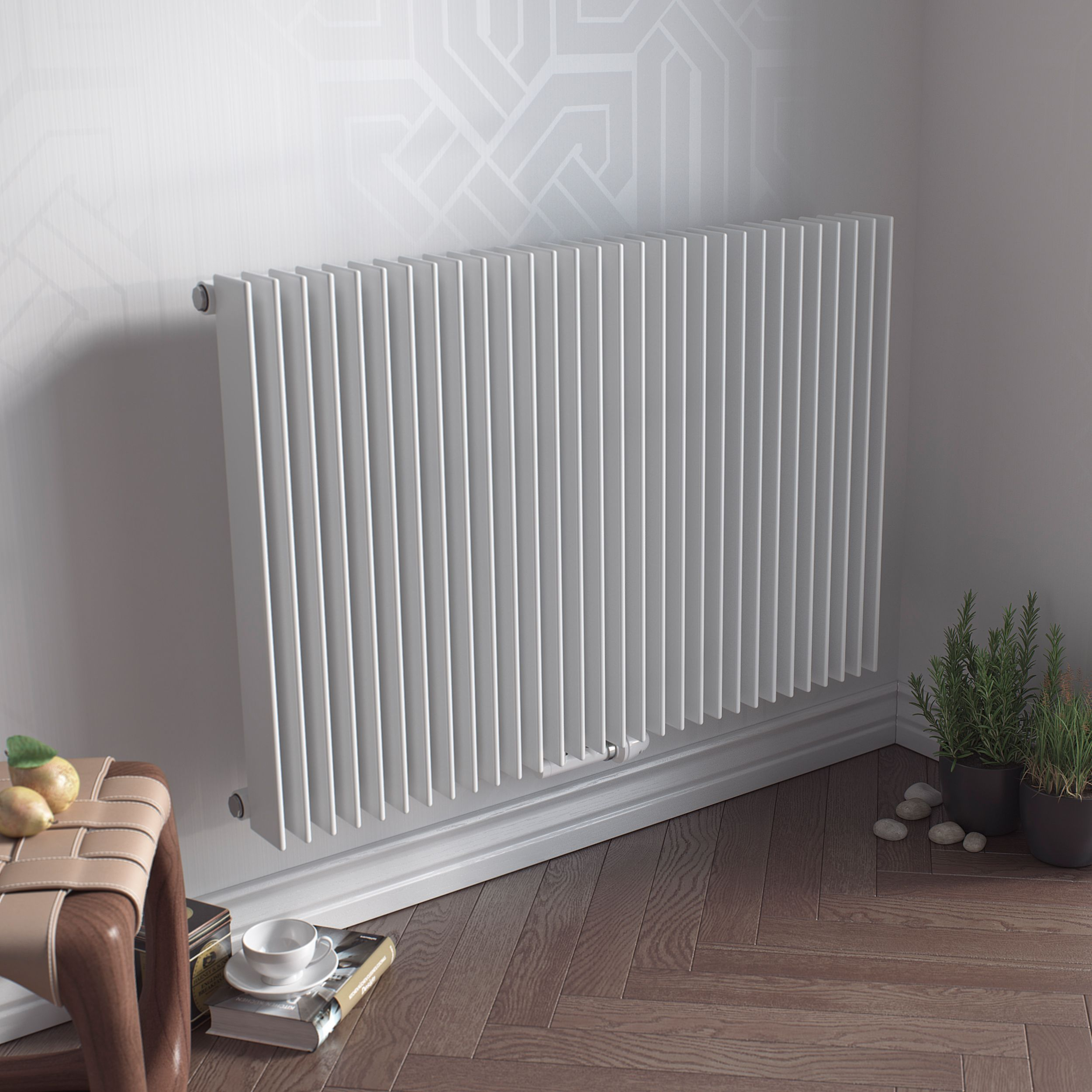 Ximax Atlas Horizontal Radiator White (H)600 mm (W)1190