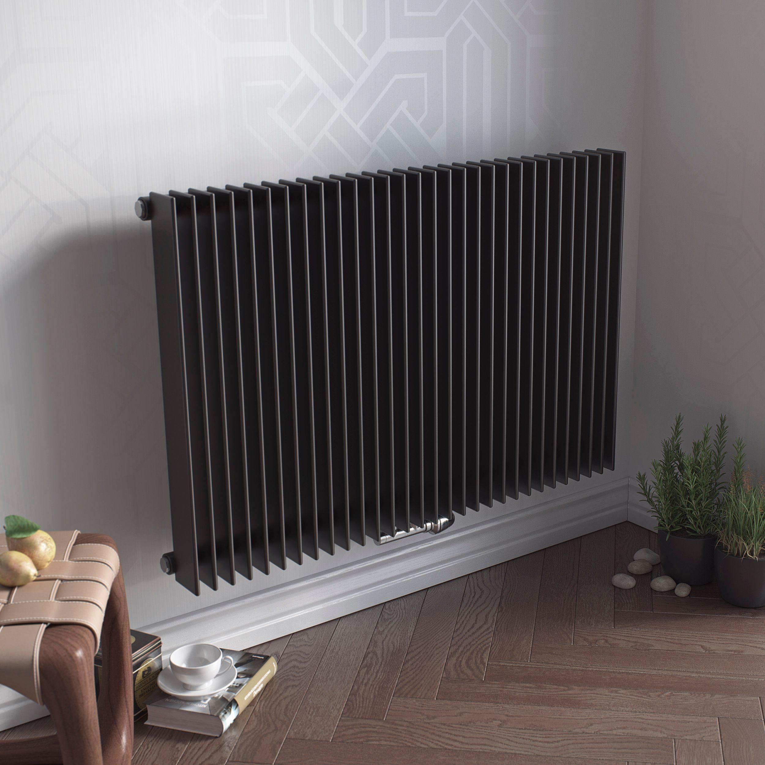 Ximax Atlas Horizontal Radiator Anthracite (H)600 Mm (W)890 Mm -