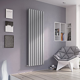 Ximax Vulkan Square Vertical Radiator Silver (H)1800 mm