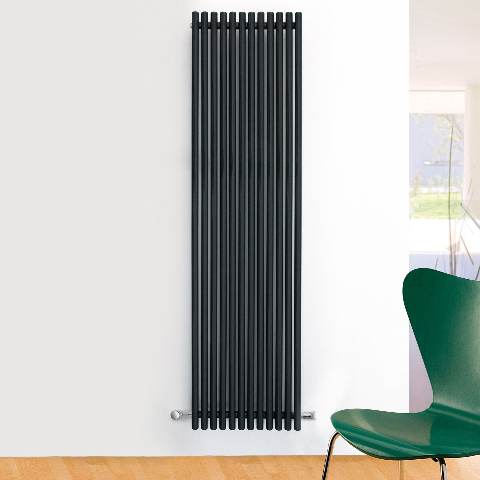 Ximax Supra Vertical Radiator Anthracite (H)1500 mm (W)470