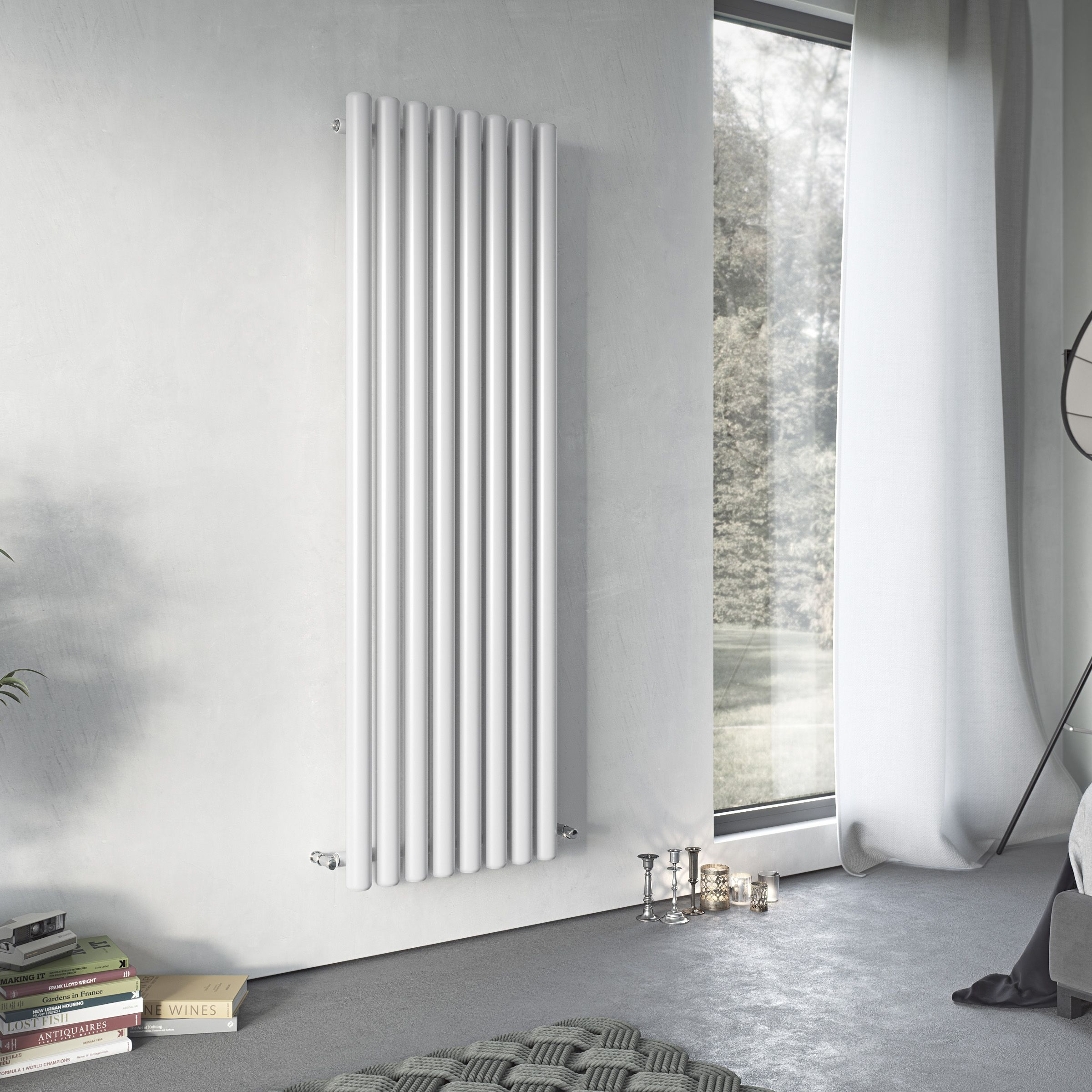 Ximax Vulkan Vertical Radiator White (H)1500 mm (W)435