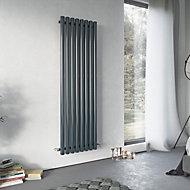 Ximax Vulkan Vertical Radiator Anthracite (H)1500 mm (W)435 mm