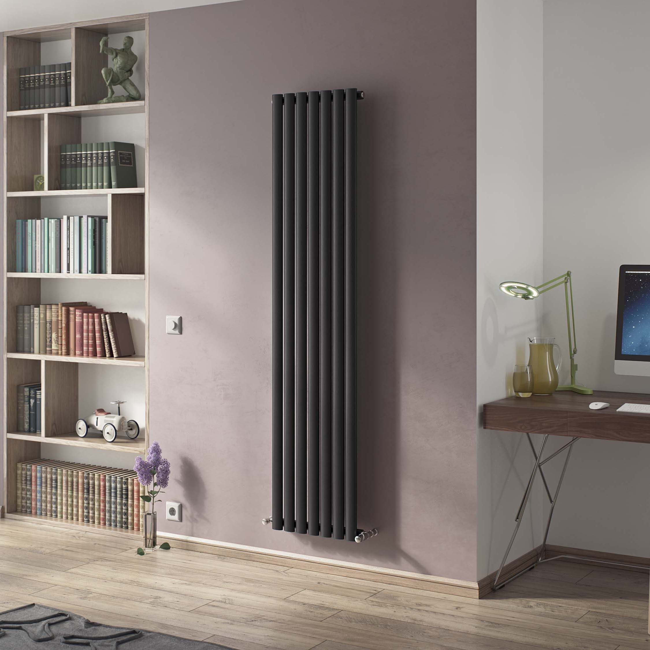 Ximax Vertical Radiator Black silver (H)1800 mm (W)526