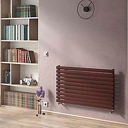 Ximax Horizontal Radiator Black Copper (H)584 mm (W)1200