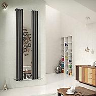 Ximax Fortuna Mirror Vertical Radiator Anthracite (H)1800 mm (W)590 mm