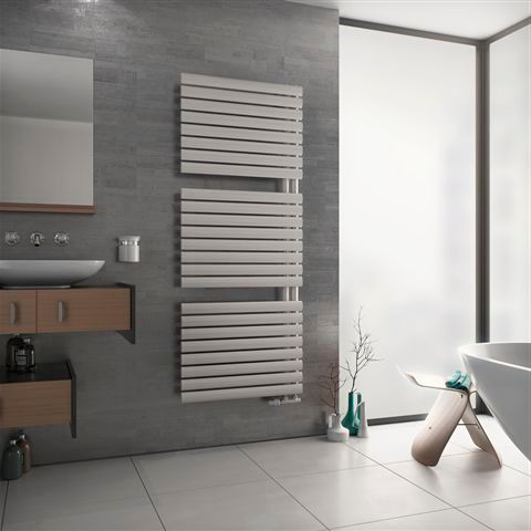 Ximax Fortuna Open White Towel radiator (H)1164mm (W)600mm