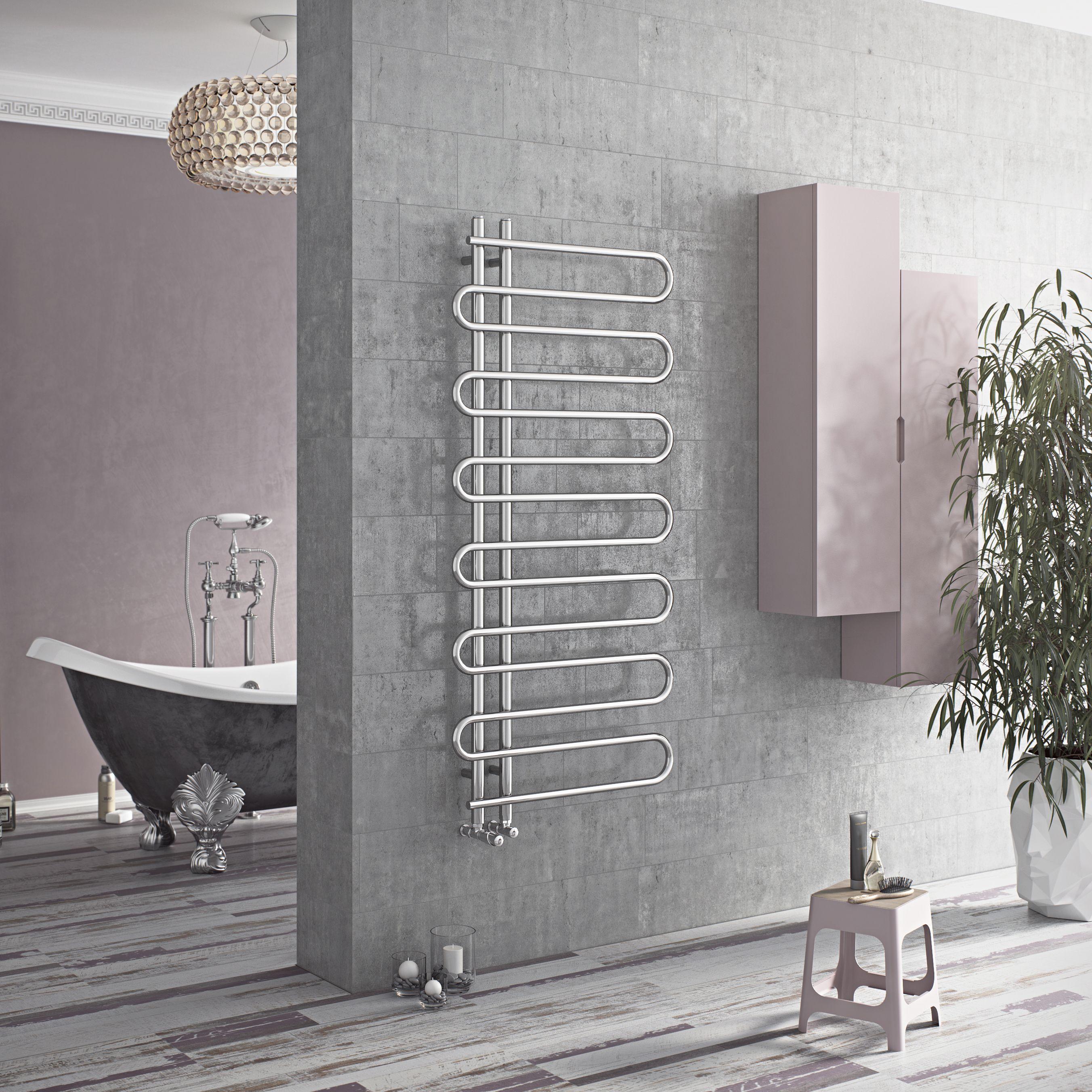 Ximax C8 Chrome Towel Warmer (H)1400mm (W)600mm