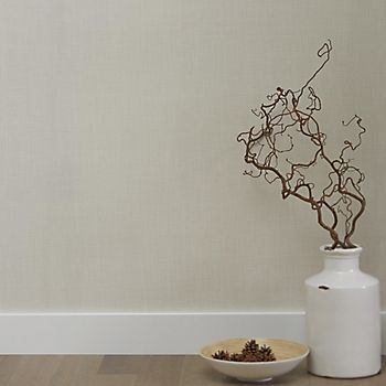 Graham & Brown Superfresco linen cream plain wallpaper