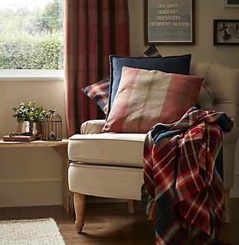 Curtains, cushions and throw from the Forest friends home decor range