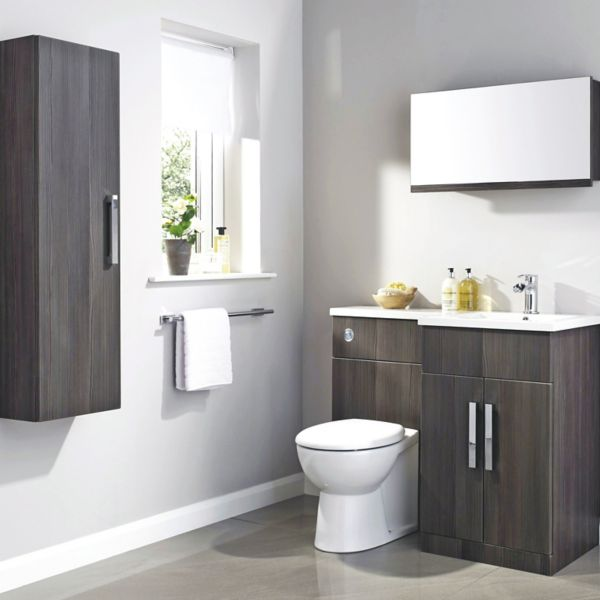 Bathroom furniture cabinets free standing furniture for Grey bathroom cupboard