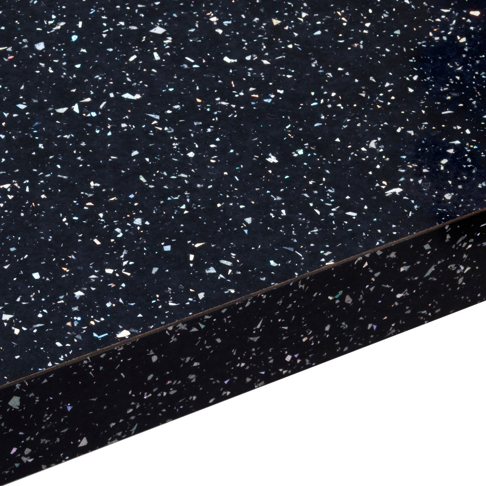 38mm Astral Black Gloss Laminate Square Edge Worktop L
