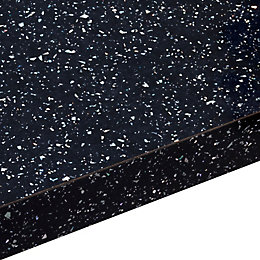28mm Astral Black Gloss Laminate Worktop (L)2000mm (D)365mm
