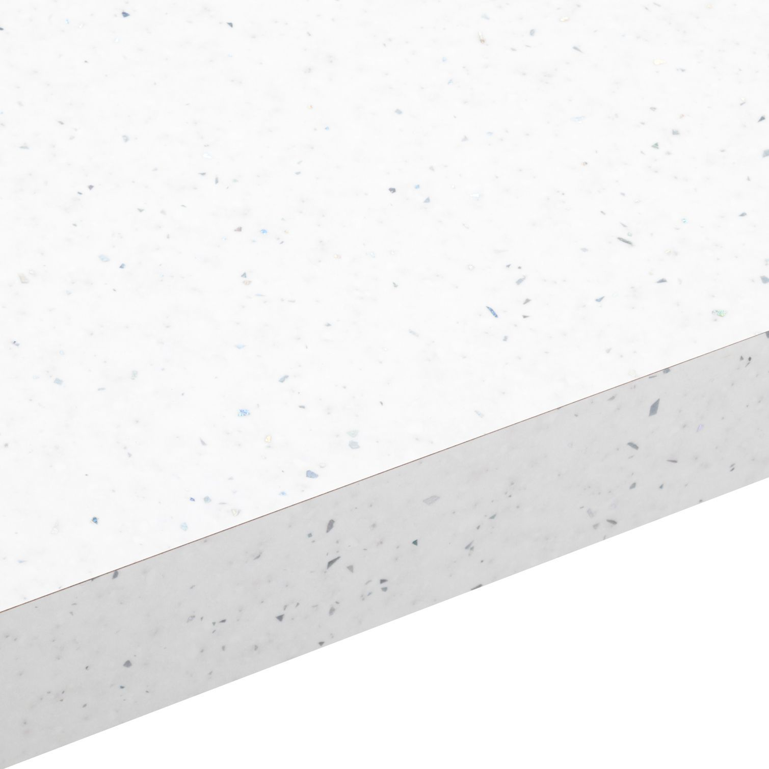 38mm Astral White Gloss Square Edge Laminate Worktop L 3m