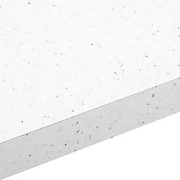 38mm Astral white Laminate Gloss Square edge Worktop