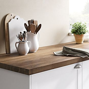 Hinita Solid Dark Wood Kitchen Worktop