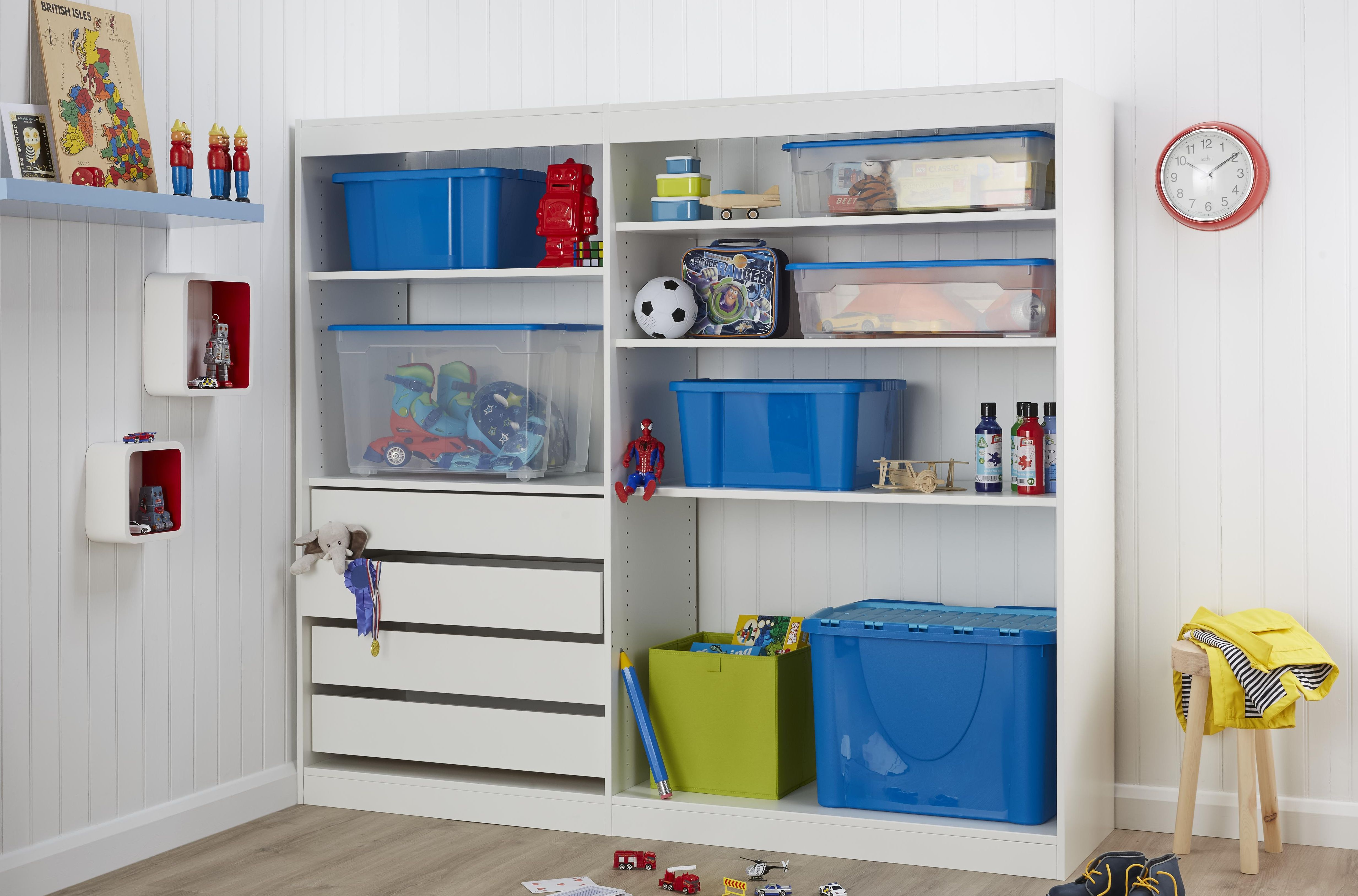 Perkin white kid's bedroom storage unit