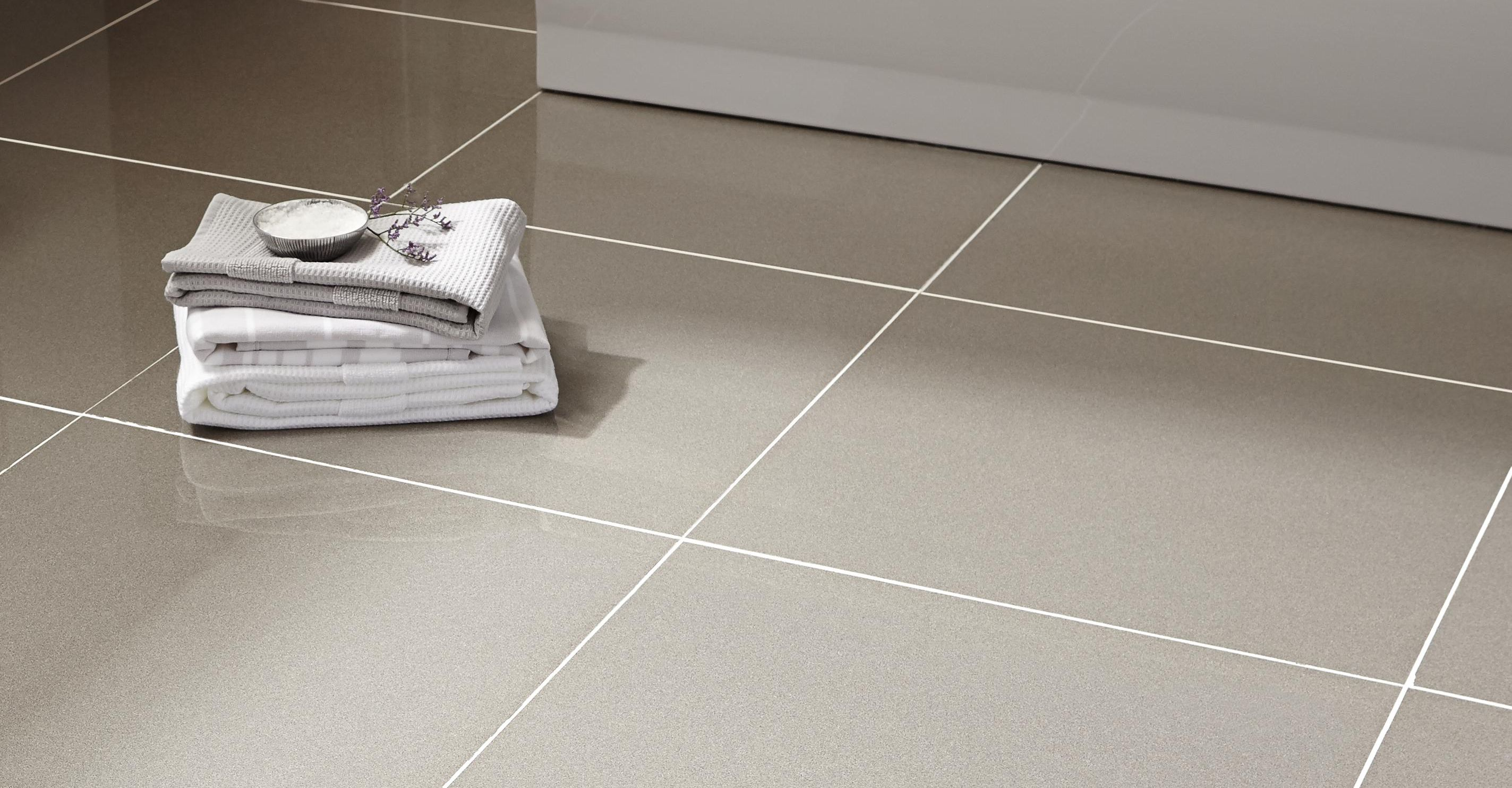 White Stone Kitchen Floor Tiles