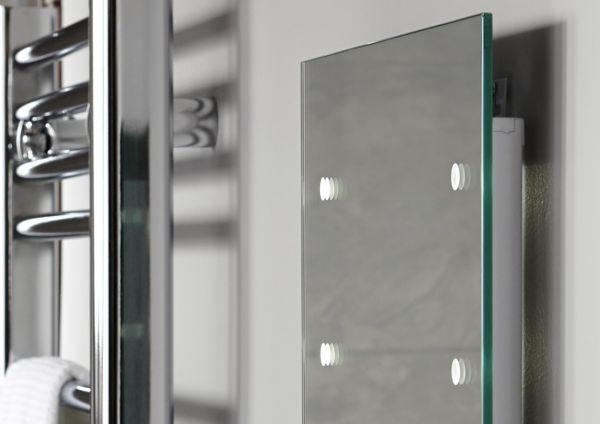 Mirrors full length illuminated wall mirrors diy at b q - Full length bathroom wall mirror ...