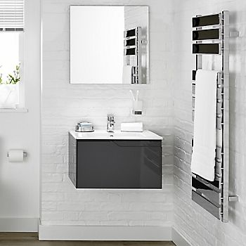 Ideal Standard grey floating bathroom vanity unit