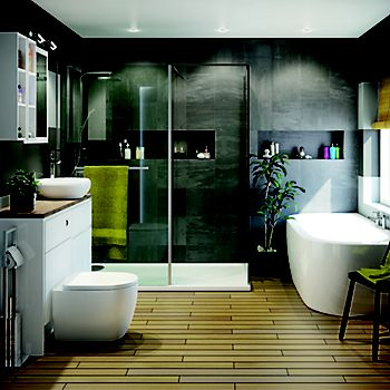 Luxury bathroom with Helena suite
