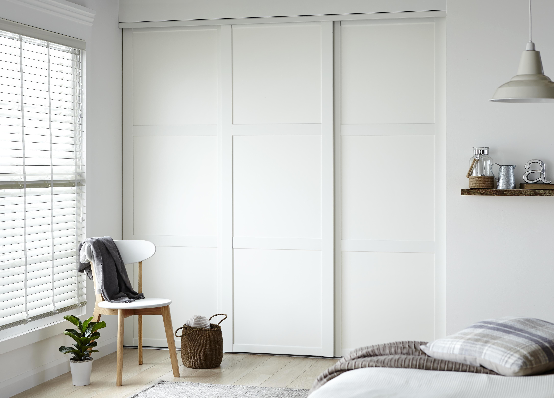 Wadrobe doors white fitted wardrobe doors for Sliding door for main door
