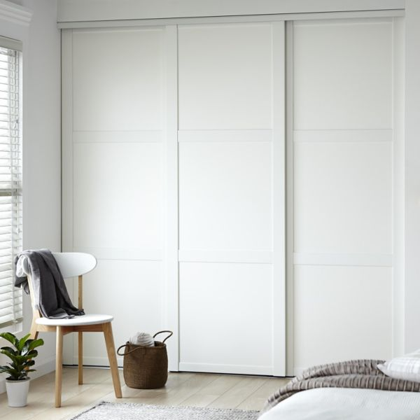 Sliding wardrobe doors kits bedroom furniture diy at b q for Sliding bedroom doors