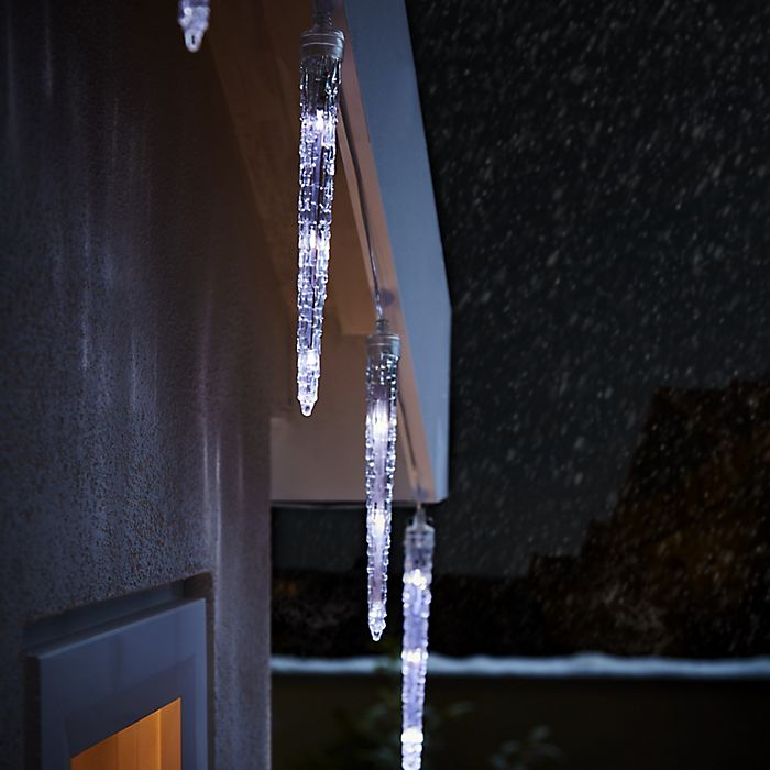 Ice white icicle Christmas lights