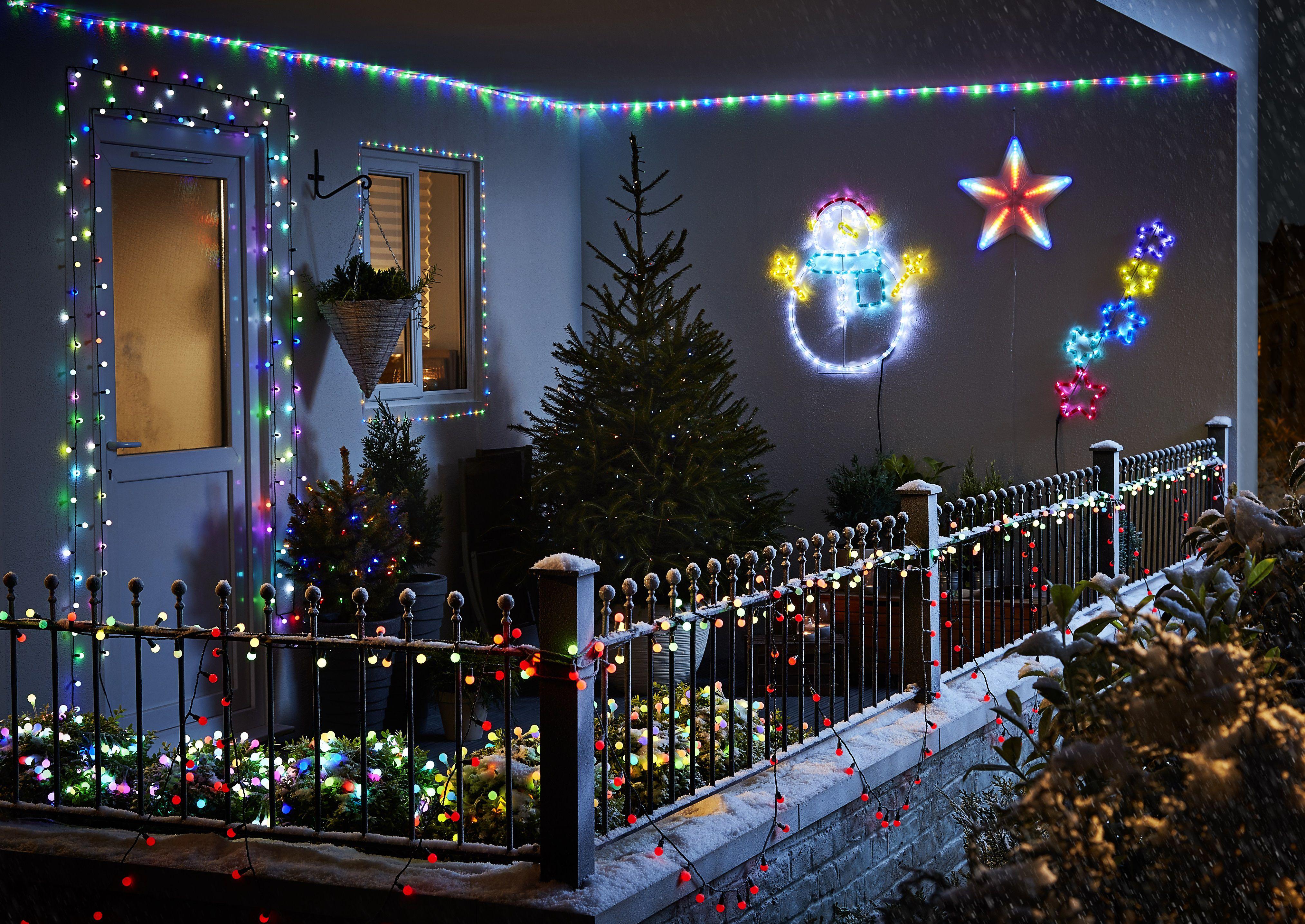 Outdoor christmas lighting Minimal How To Hang Outdoor Christmas Lights Amazoncom Christmas Lights Christmas Diy At Bq