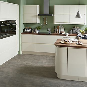 Cooke & Lewis Appleby gloss cream kitchen