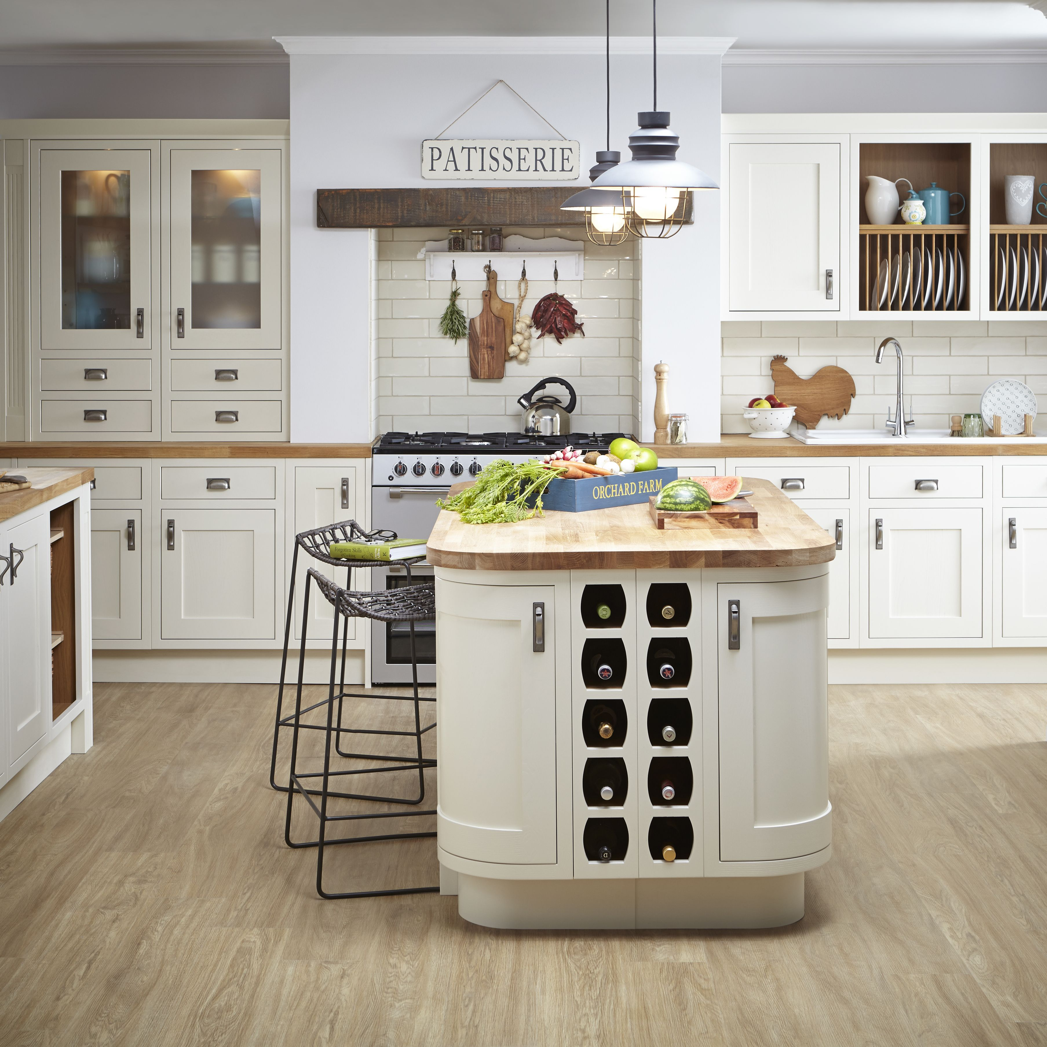 Cute Country Kitchen Designs Exterior