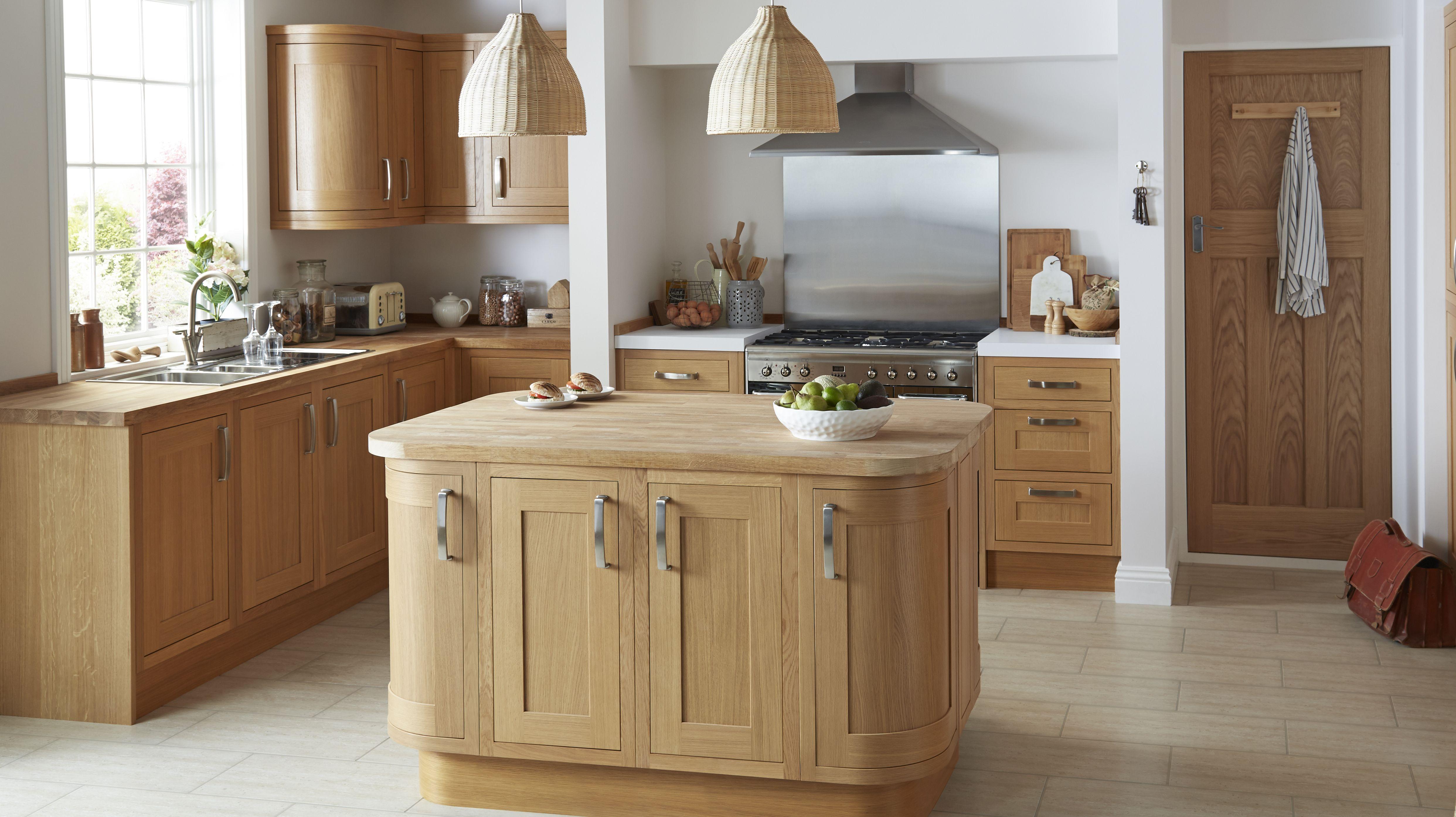 Cooke lewis carisbrooke oak framed kitchen