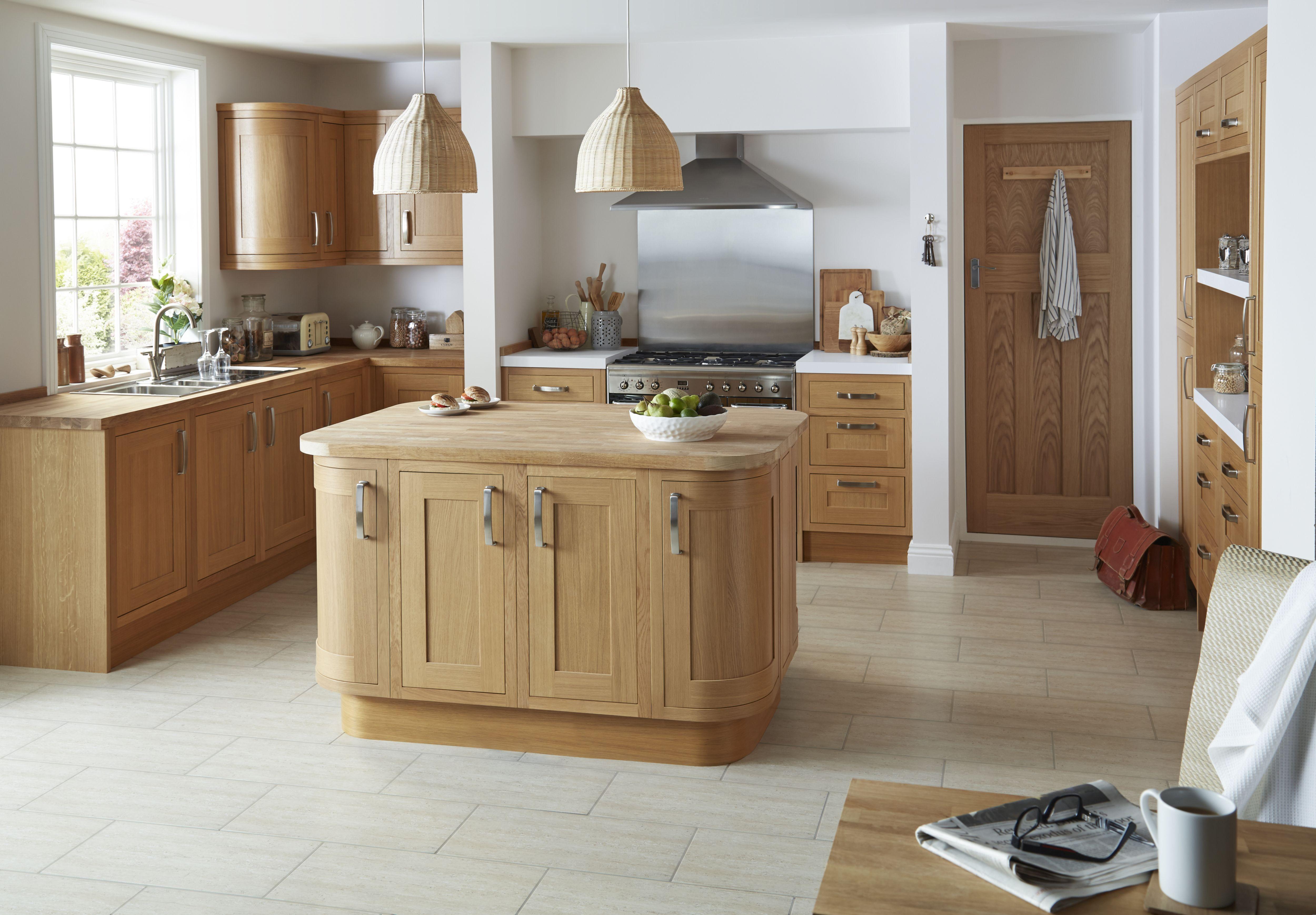 Superior Cooke U0026amp; Lewis Carisbrooke Oak Framed Kitchen