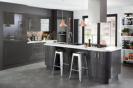 Raffello High Gloss Anthracite Slab