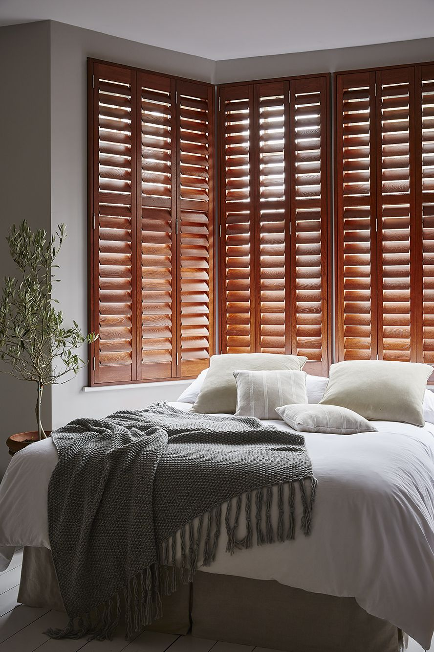 GRAINED WOOD SHUTTERS. Made From Ash Hardwood, This Deep Grained Species Of  Timber Is Especially Suited To A Stain Finish. Choose From 12 Paints And 8  ...