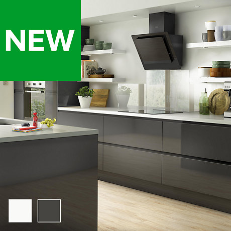 fitted kitchens traditional contemporary kitchens rh diy com Modern Green Kitchen Modern Black Kitchen