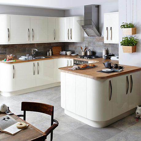 it sandford ivory style slab fitted kitchens diy at b q rh diy com b and q kitchens review b and q kitchens worktops