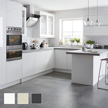 B And Q White Gloss Kitchen
