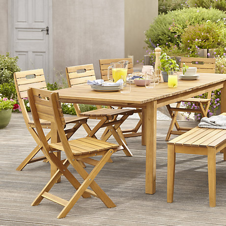 Denia Range Natural Wood Garden Furniture