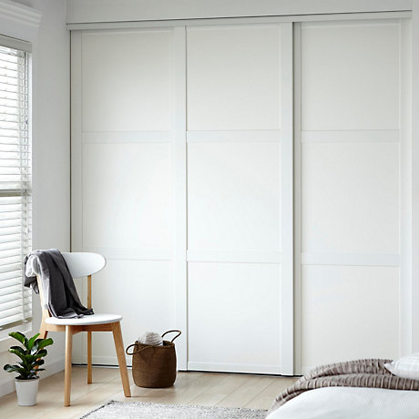 sliding wardrobe doors sliding doors diy at b q. Black Bedroom Furniture Sets. Home Design Ideas