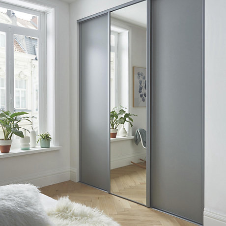 door design half mirror  | 1023 x 1200