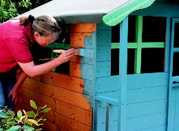 Painting a playhouse