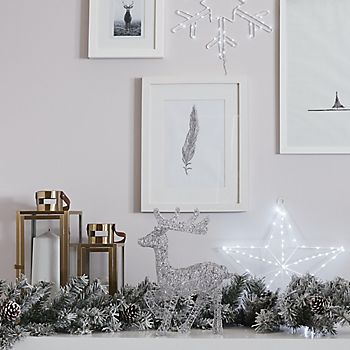 Woodland White Frosted with Pine Cones Garland