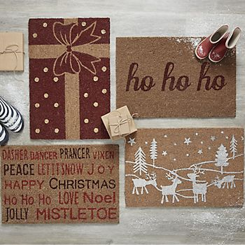 Collection of Christmas door mats