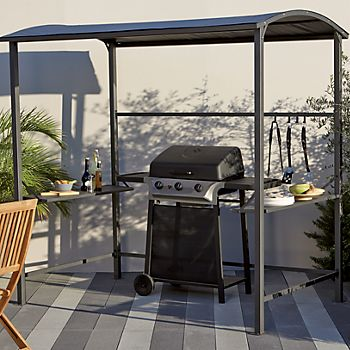 Blooma Coburg barbecue gazebo with BBQ underneath