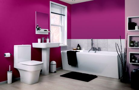 Image of bathroom painted pink
