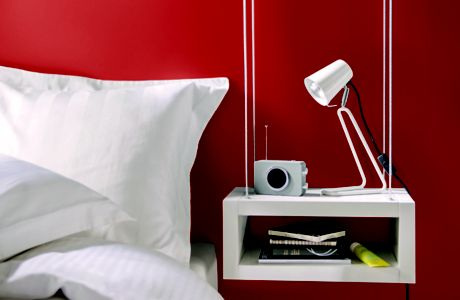 Image of bedroom painted red