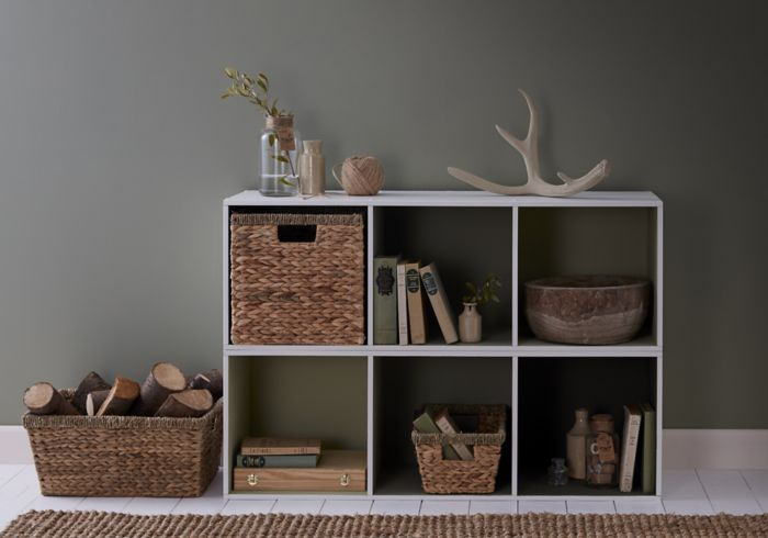 Sage green wall with Mixxit storage